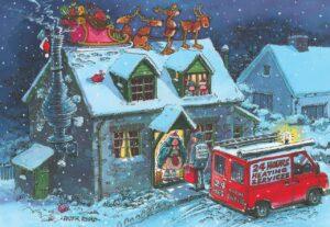 layt5070 santa stuck ijn chimney